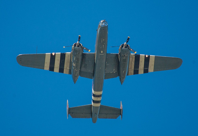 B-25 in D-Day invasion colors