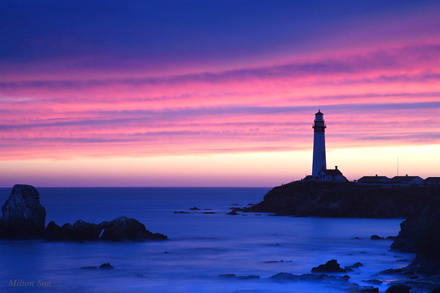 [Violet + Blue] Pigeon Point Lighthouse, Northern California