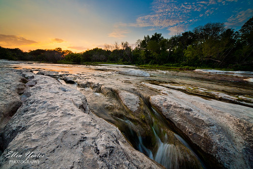statepark park sunset sky usa nature austin landscape flow photography ellen waterfall texas tx scene falls limestone rapid nations mckinney lonestarstate yeates ellenyeatesphotography
