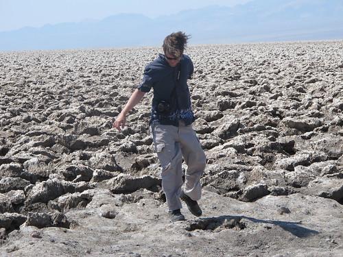 Death Valley: Matt at Devil's Golf Course | by mormolyke