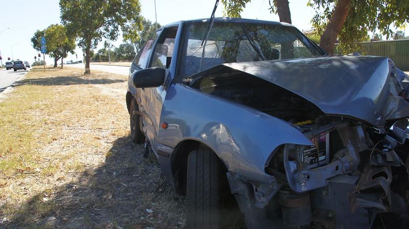 Car crash, Karrinyup Road Stirling