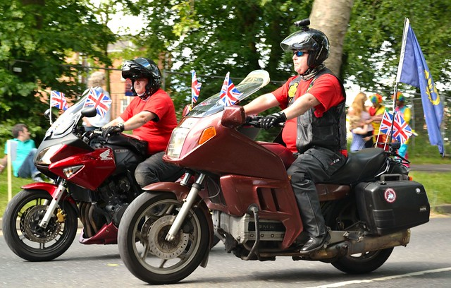 Motorcyclists at the Colchester carnival