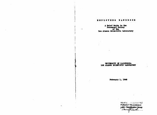 Employee Handbook 1948