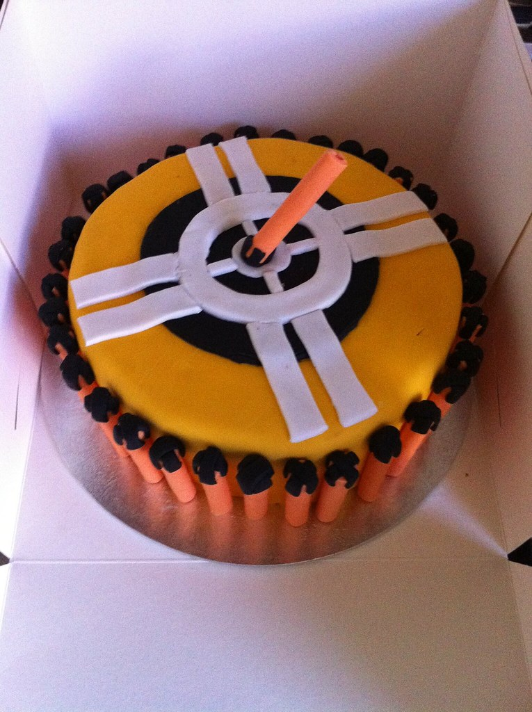 Astounding Nerf Bullet Target Birthday Cake Sally Knight Flickr Funny Birthday Cards Online Alyptdamsfinfo