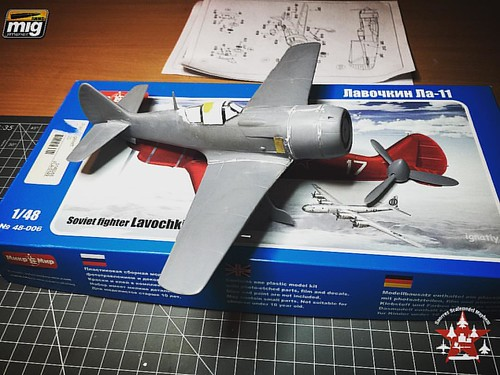 The plane now stands on its own legs.. Still can't walk, run or fly, but at least it is looking more like a plane now. Missing the wheels, the aerial wires paint and decals.. Oh and lets not forget the weathering #scalemodel #scalemodelplane #plasticmodel | by SnorresMayhem