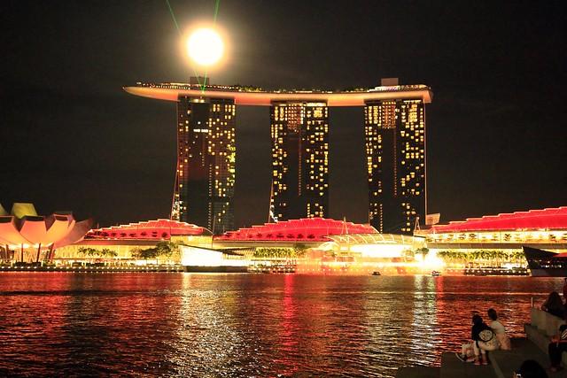 Marina bay sands/ by night