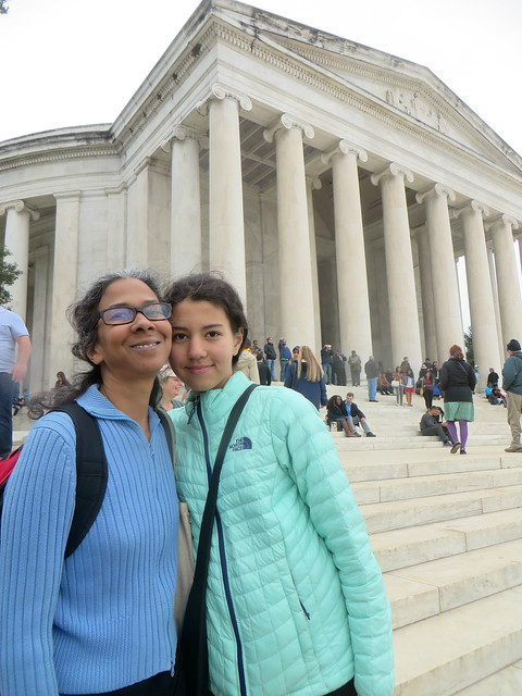 Janine & Eden at Jefferson Memorial