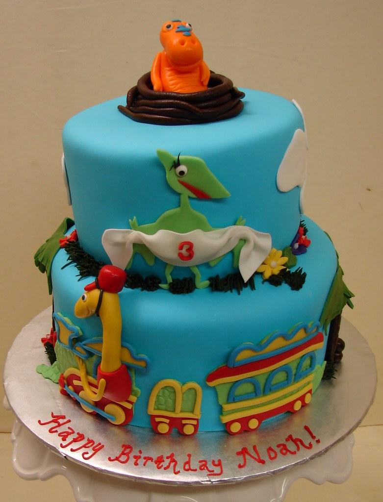 Admirable Dinosaur Train Friends Birthday Cake Dinosaur Train Fr Flickr Personalised Birthday Cards Veneteletsinfo