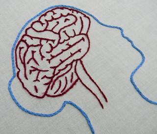 Female Anatomy Brain and Lung Embroidery Hoop Art   by Hey Paul Studios