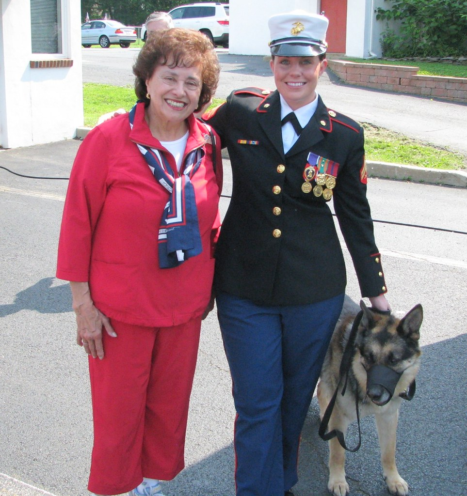 With retired Marine Corporal Megan Leavey and her faithful… | Flickr