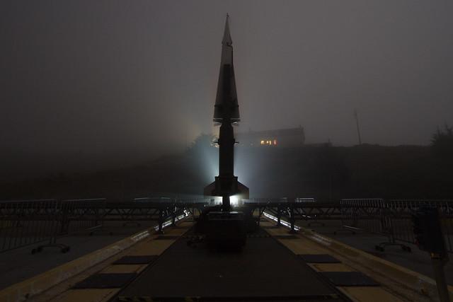 SF-88 Nike Hercules Missile Site [03]: Backlit Missile