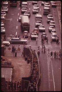 Traffic On Market Street, Philadelphia's Main East-west Artery, Looking West, August 1973
