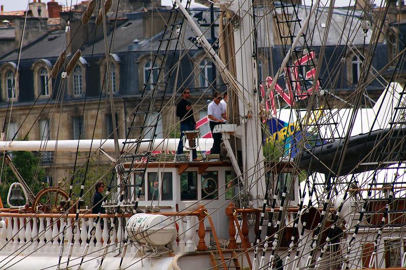 Pilote de la Gironde - Accostage du Belem - Bordeaux - 28 juin 2012