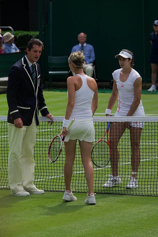 Mathilde Johansson & Christina McHale, 2nd Round, Court 16, The Championships, Wimbledon, London.