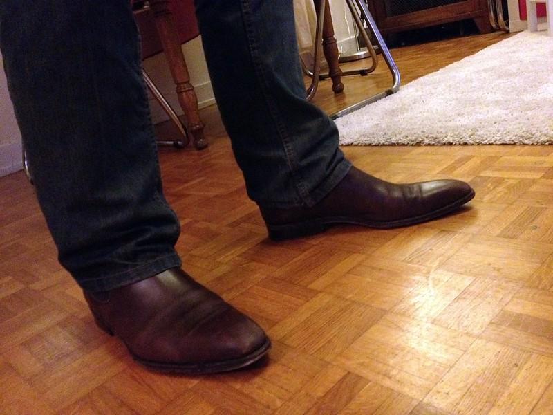 Boyfriend brown boots