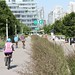 Cycling the Olympic Village Seawall