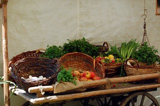 Fruit and vegetable cart at Burgfest | by @PensieveRobin