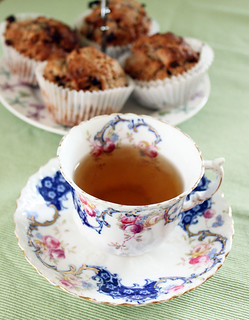 Rhubarb Muffins with cup of Tea | by Coffee Muffins