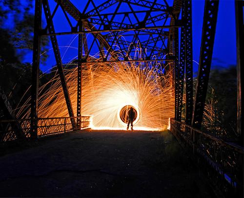 lightpainting sparks cullmancounty abandonedbridge gardencityalabama mullberryfork
