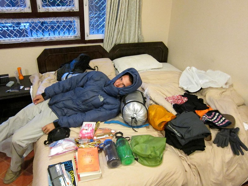 Packing for Everest B.C.
