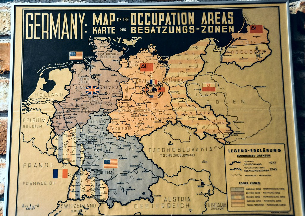 Post WWII German Occupation Area Map at Haus der Geschicht… | Flickr