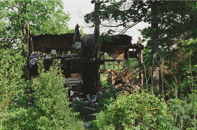 burned-out house - almost gone
