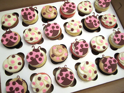 Lady Bug Baby Shower Cupcakes | by Cutie Cakes WY