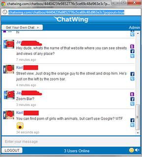 Funny Live Chat With Friends On Chatwing | One fellow asked