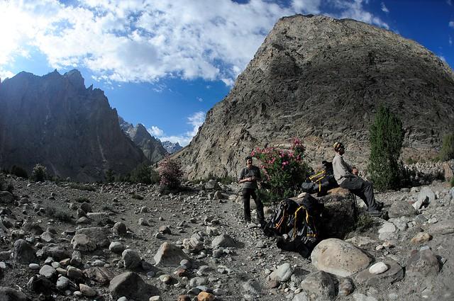 Leaving Masherbrum valley