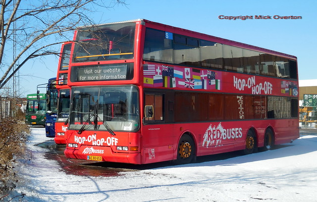 2001 Volvo B7LT Red Buses BC80652 ex City Trafik 2816 with 2803 behind