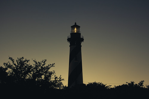 lighthouse staugustine lightstation tower anastasiaisland building landscape sunrise light silhouette florida canon 70200mm 3rdratephotography earlware 365