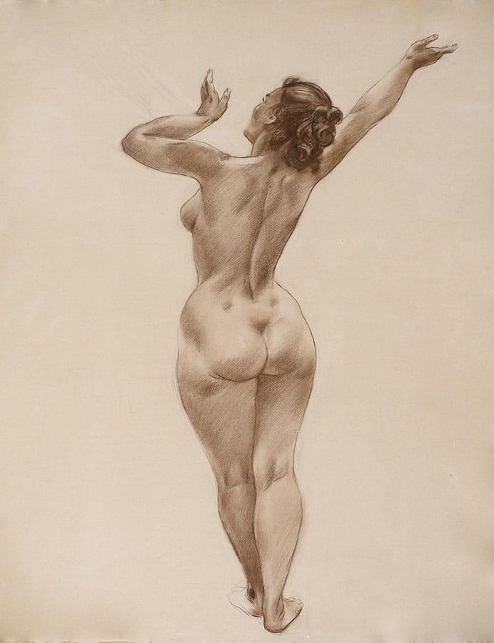 Онлайн рисунки голых женщин от художников