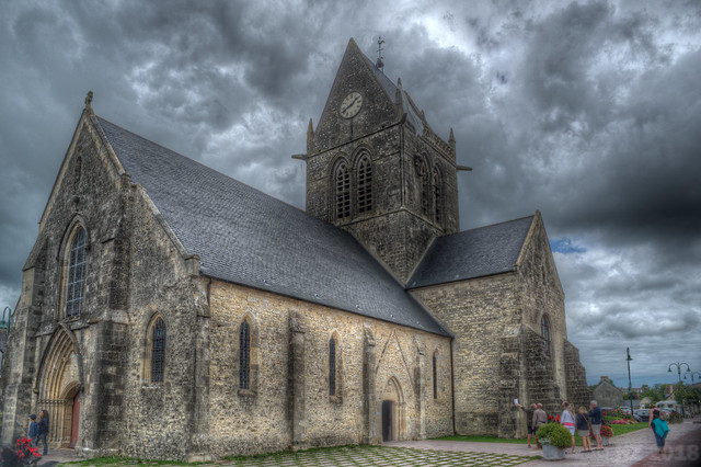 Church - Sainte-Mère-Église, Normandy France