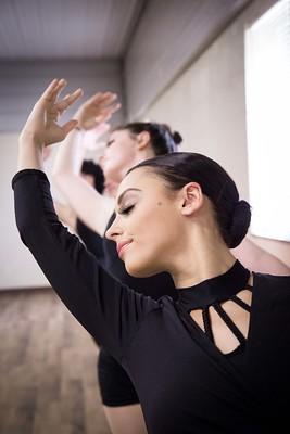 Ballet dance students