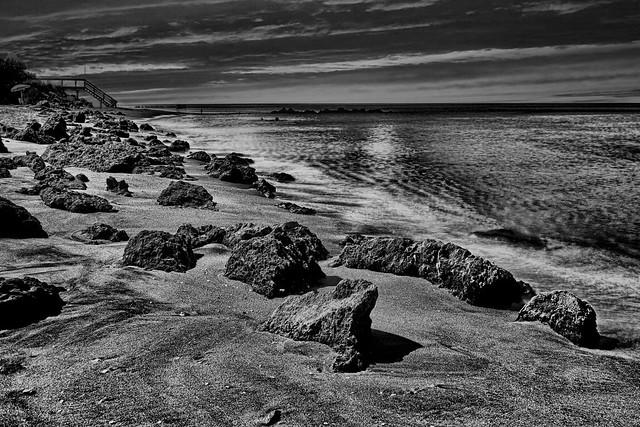 View of Caspersen Beach, Harbor Drive, Venice, Florida, U.S.A.