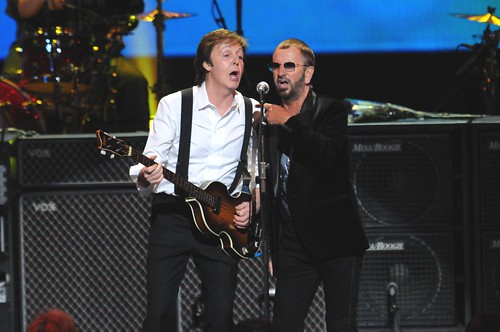 "<p>Paul McCartney and Ringo Starr reunite, performing ""With A Little Help From My Friends"" in front of a sold-out crowd at the David Lynch Foundation event ""Change Begins Within"".</p>"