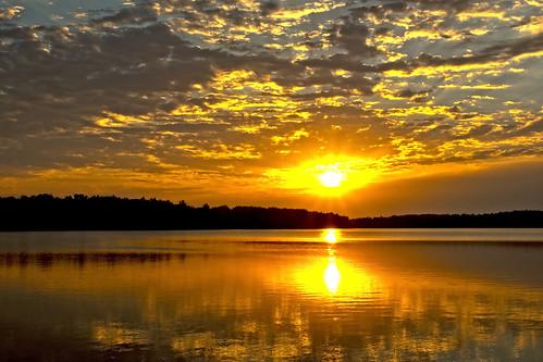 lake sunrise hdr fayettville realistichdr