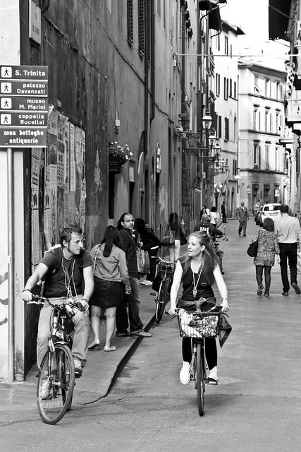 In the streets of Florence