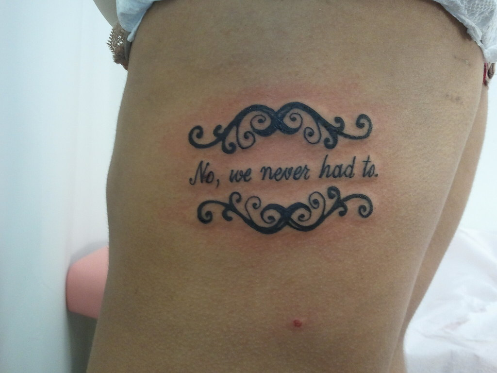 quote ribs tattoo | Alicyn Miller Studio Zee | AlicynM | Flickr
