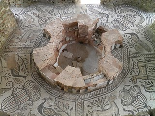 The mosaic floor in the episcopal basilica's baptistery, Stobi | by Following Hadrian