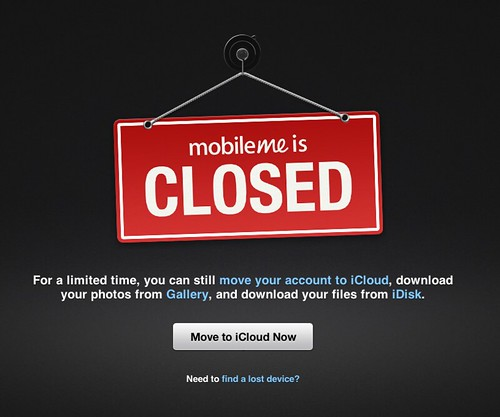MobileMe is Closed | by aaronparecki