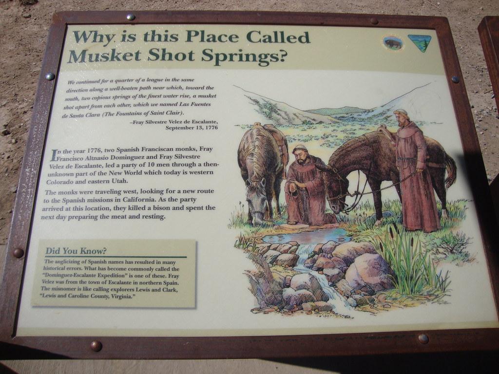 Musket Shot Springs Marker (Uintah County, Utah) | As seen f… | Flickr