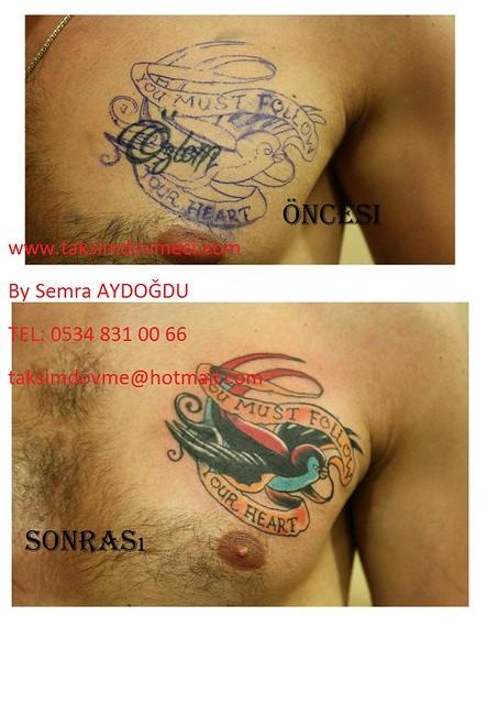 Cover up bird tattoo / kuş dövme