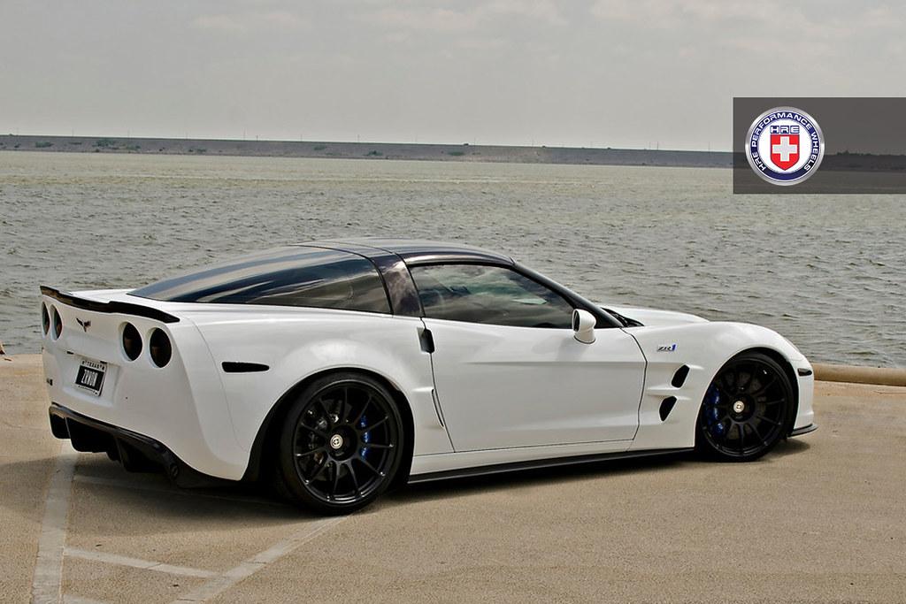 Chevrolet Corvette C6 ZR1 White HRE P43S Satin Black | Flickr