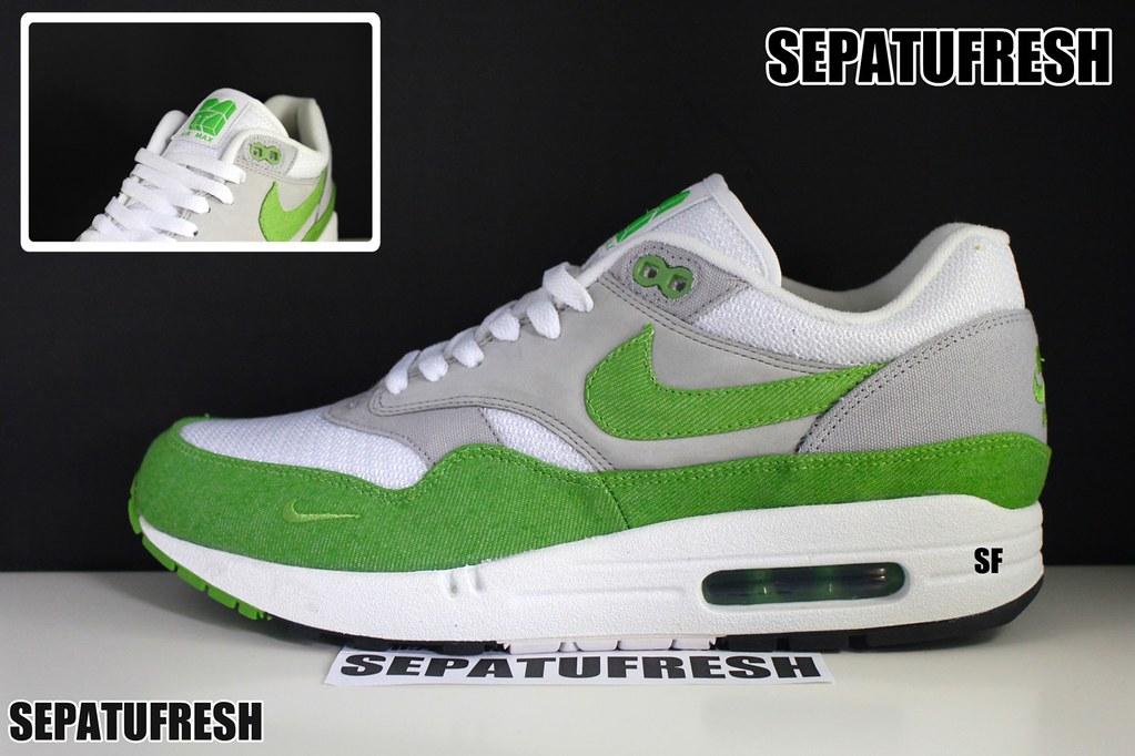 low priced 1d1d8 1cd40 ... Nike Air Max 87 1 Patta Green Denim   by sepatufresh
