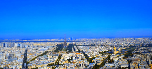 View over Paris, from the top platform of Tour Montparnasse
