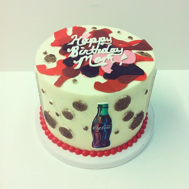 Terrific Coca Cola Birthday Cake Polkadots Olga Flickr Funny Birthday Cards Online Necthendildamsfinfo