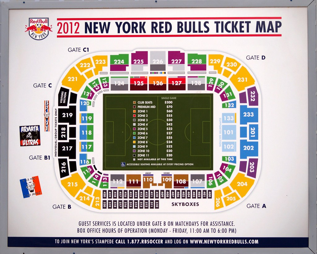 Red Bull Arena Ticket Map Harrison New Jersey Jag9889