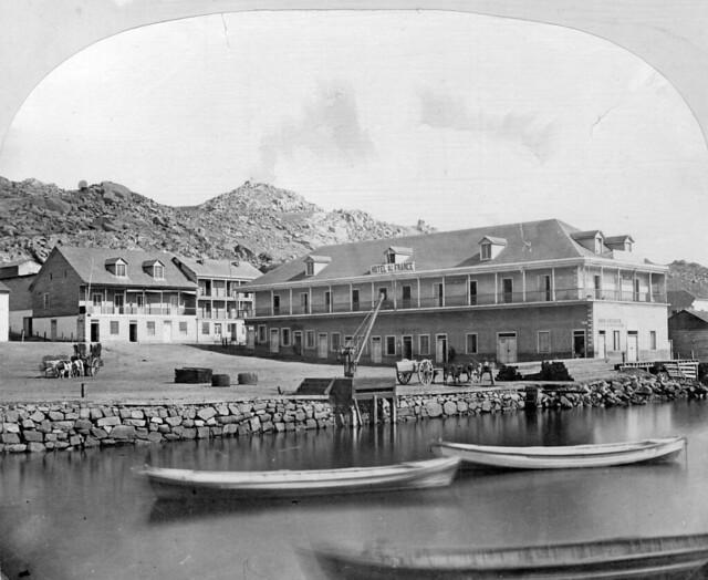 hotel gran de france en la bahia de Coquimbo 1867
