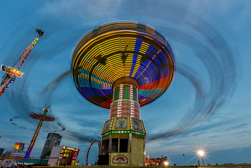 Swing ride long exposure - Canadian National Exhibition | by Phil Marion (173 million views - THANKS)
